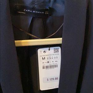 Zara navy blazer NWT